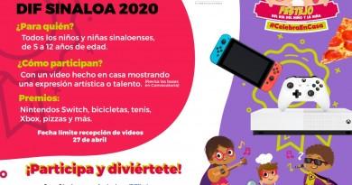 Con un Concurso Virtual de Talento Festejará DIF Sinaloa el Día del Niño y la Niña
