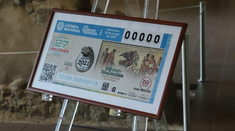 Devela Lotería Nacional billete que enmarca siete siglos de historia de la Fundación de México-Tenochtitlán