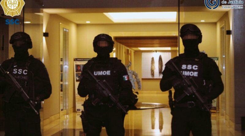 Efectivos de la SSC y de la FGJ, Ejecutaron Una Orden De Cateo en un Inmueble Ubicado en Cuajimalpa, Detuvieron a Cinco Personas Y Aseguraron Más De 200 Dosis de Aparente Droga